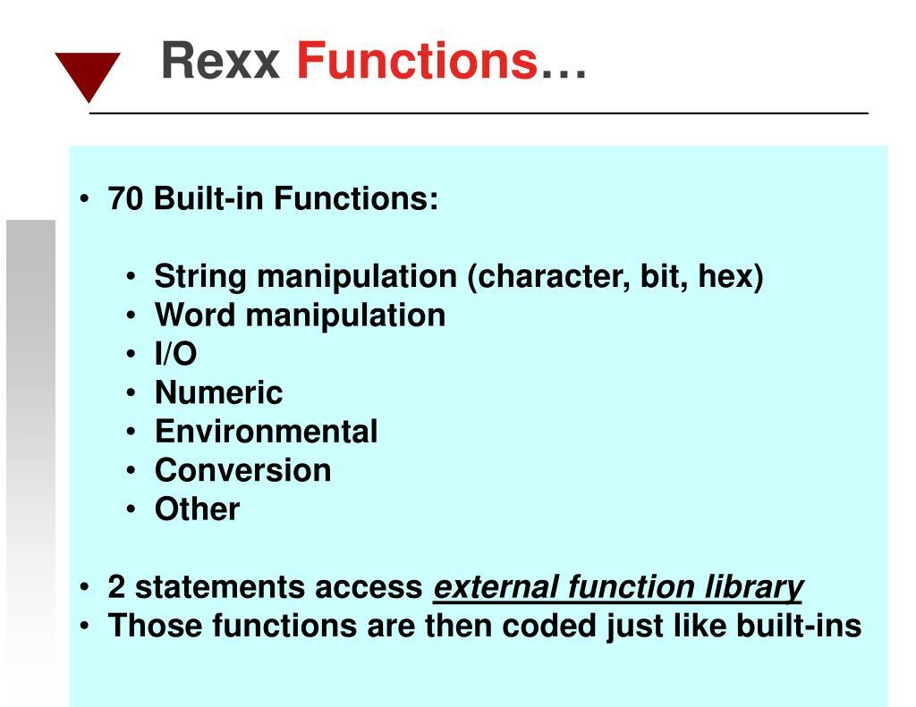 70 Built-in Functions: