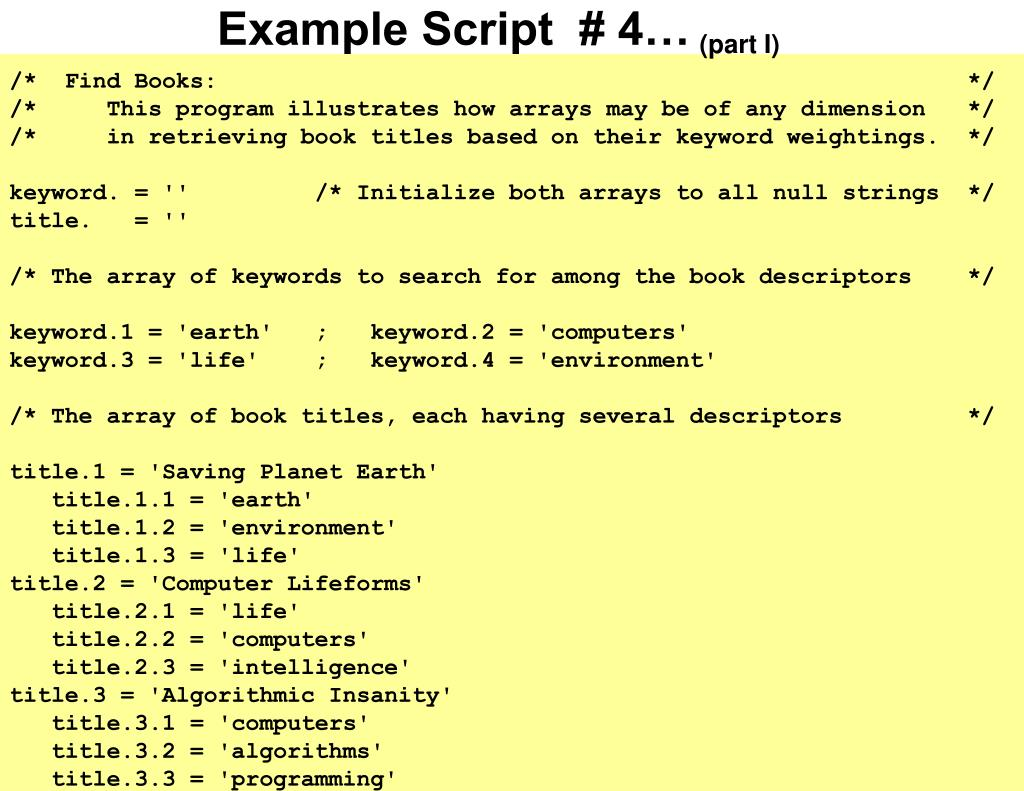 Example Script  # 4…