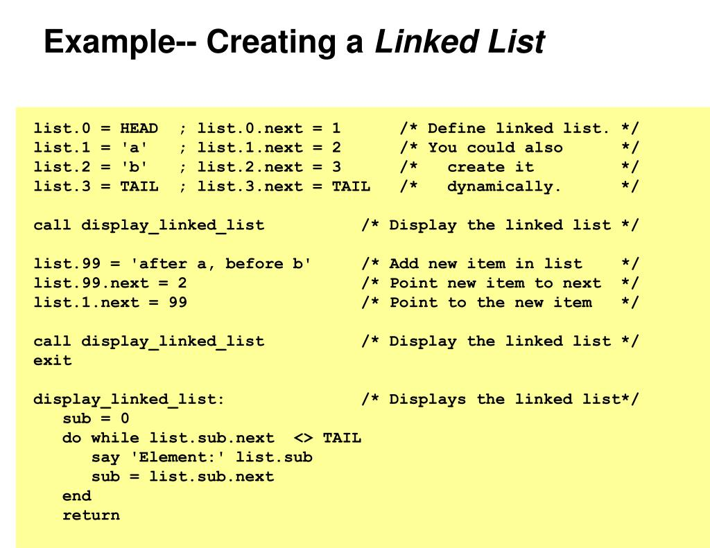 Example-- Creating a