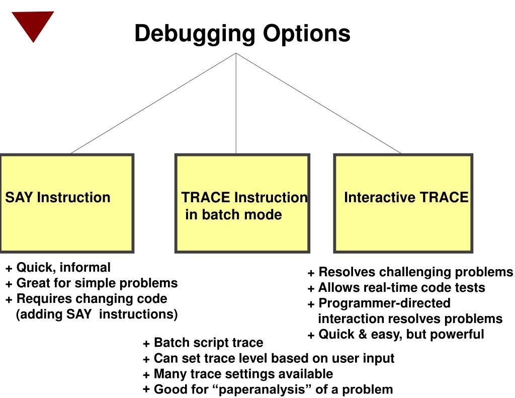 Debugging Options