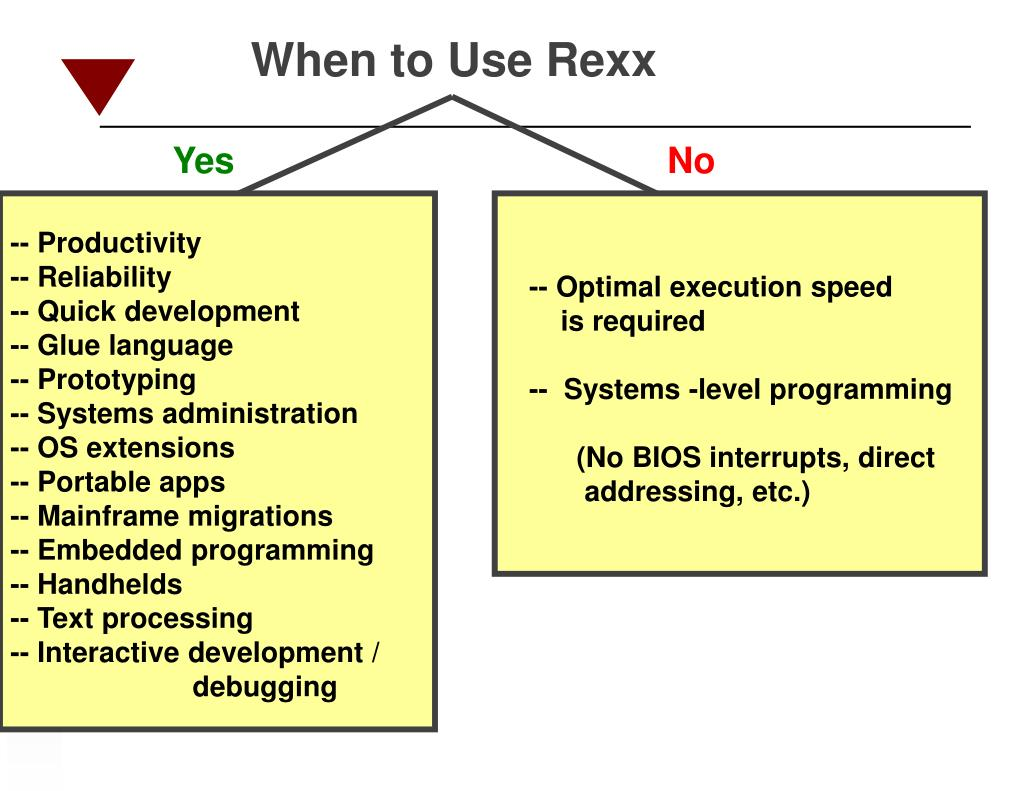 When to Use Rexx