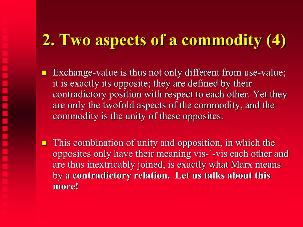 2. Two aspects of a commodity (4)