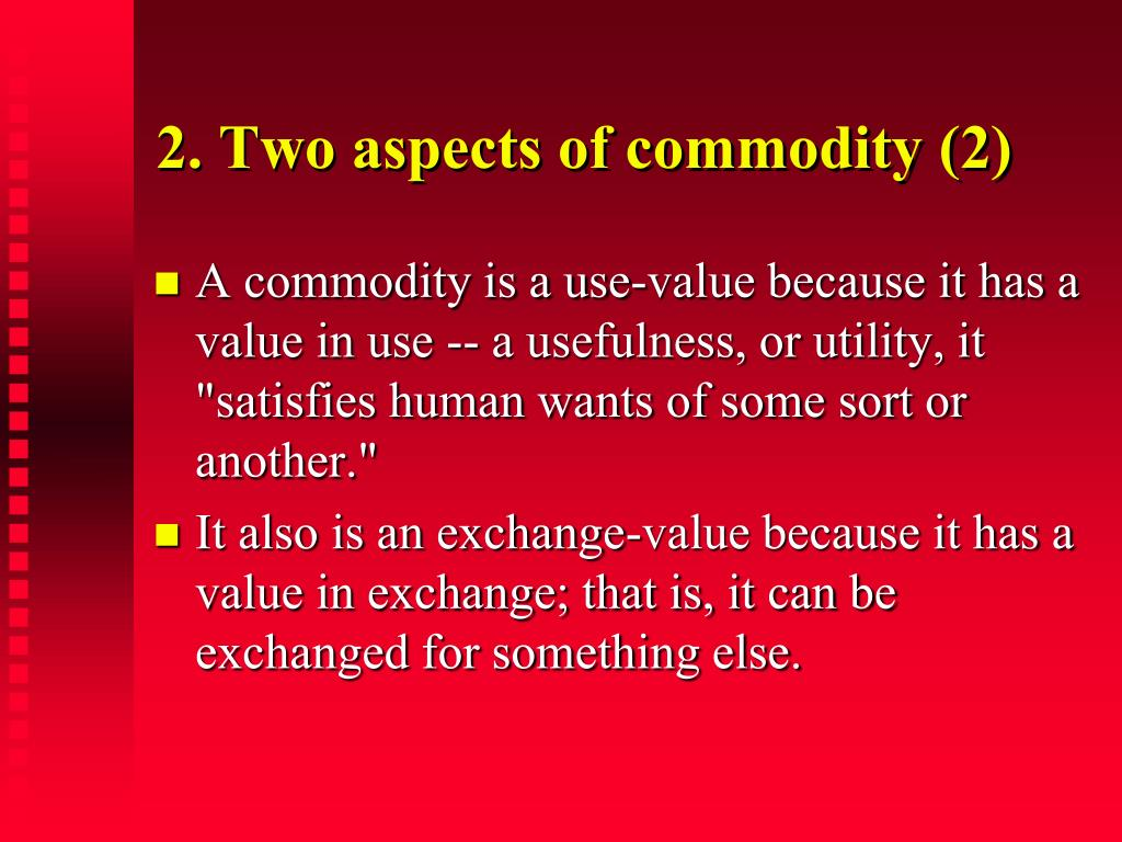2. Two aspects of commodity (2)
