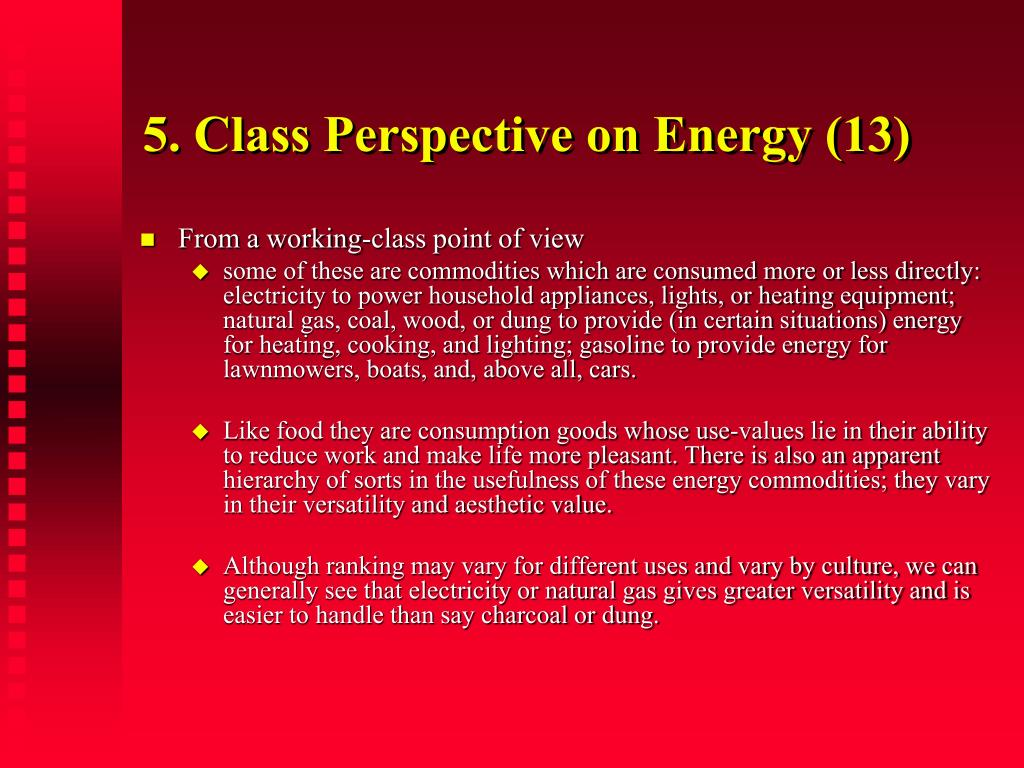 5. Class Perspective on Energy (13)