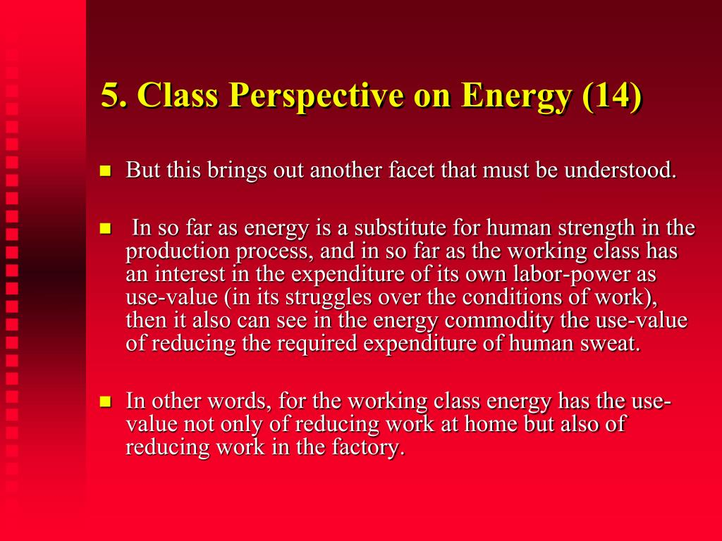 5. Class Perspective on Energy (14)