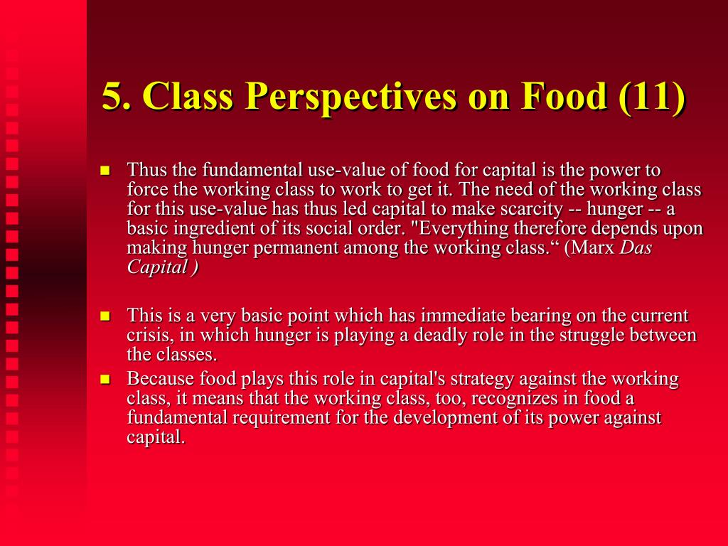 5. Class Perspectives on Food (11)