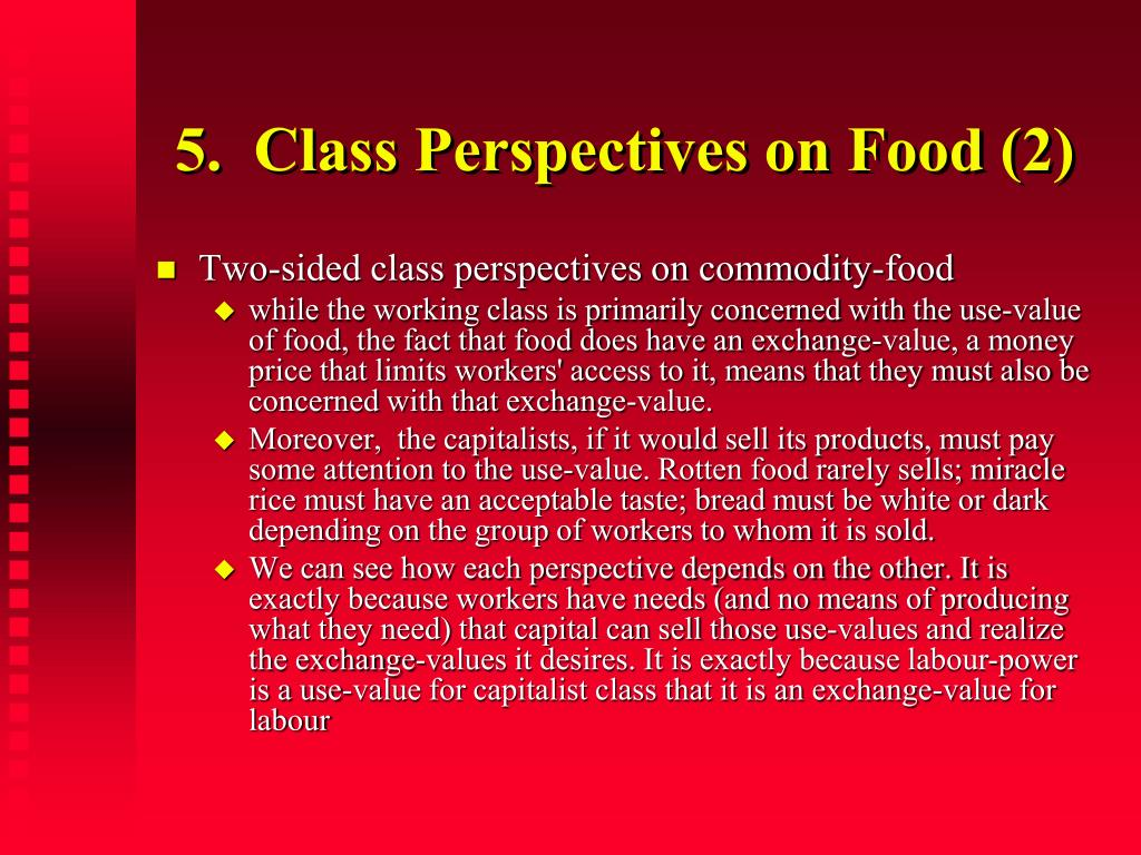 5.  Class Perspectives on Food (2)