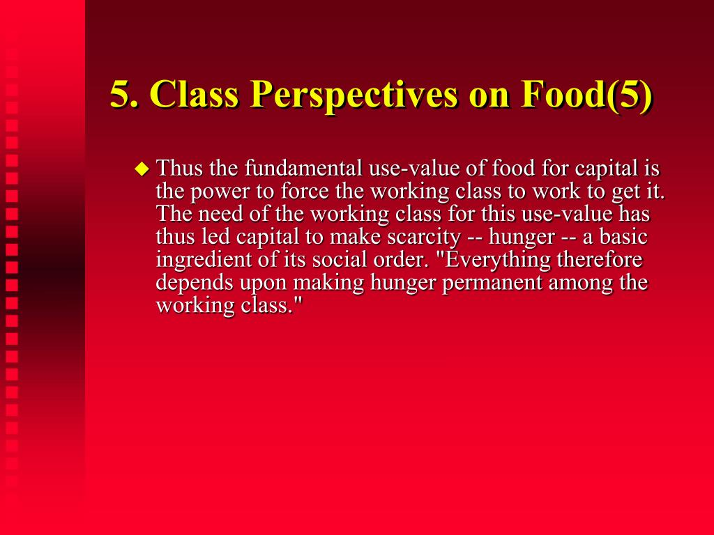 5. Class Perspectives on Food(5)