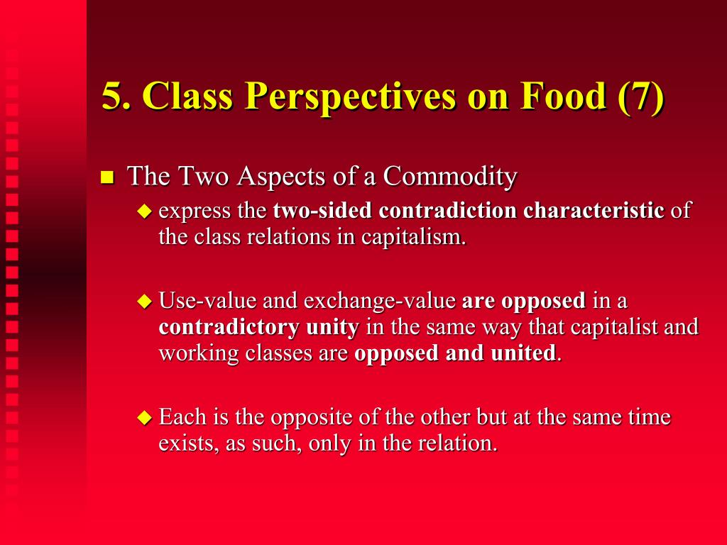 5. Class Perspectives on Food (7)
