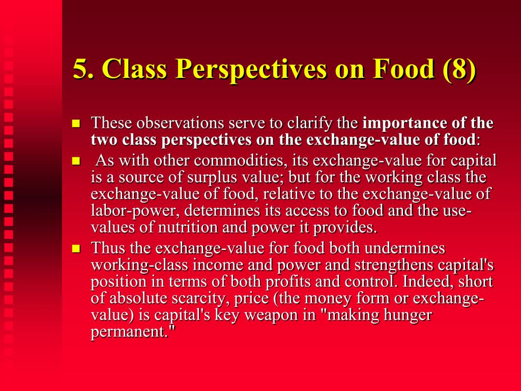 5. Class Perspectives on Food (8)