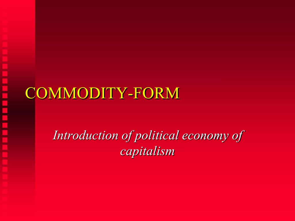 commodity form