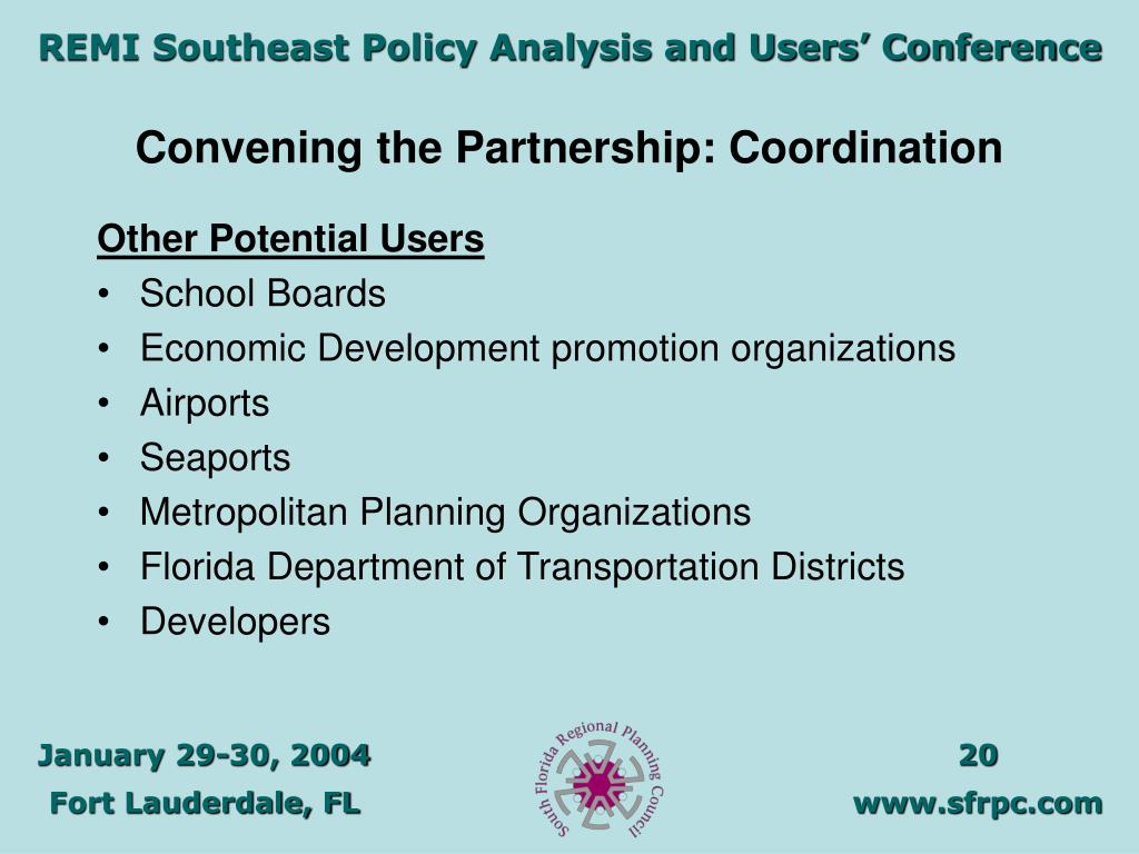 Convening the Partnership: Coordination