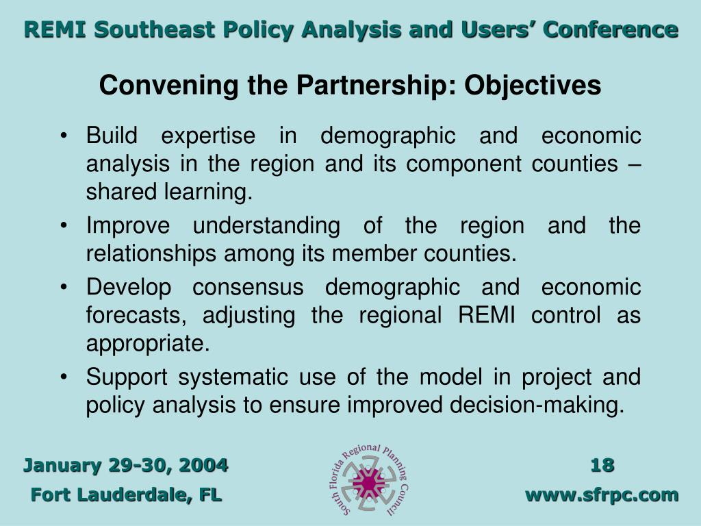 Convening the Partnership: Objectives