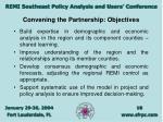 convening the partnership objectives