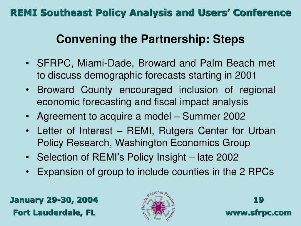 Convening the Partnership: Steps