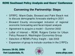 convening the partnership steps