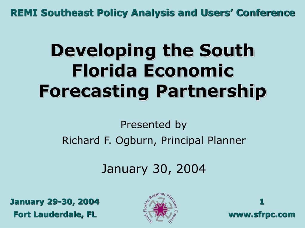 Developing the South Florida Economic Forecasting Partnership