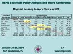 regional journey to work flows in 2000