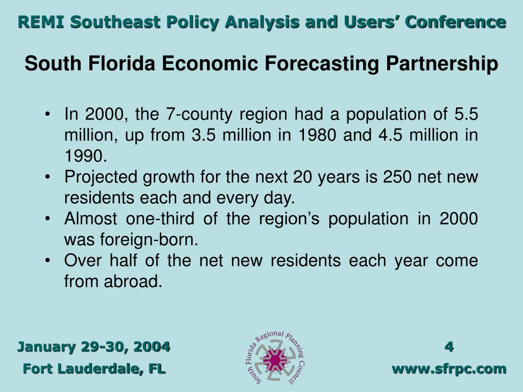 South Florida Economic Forecasting Partnership