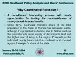 why coordinated forecasts11