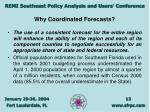 why coordinated forecasts13