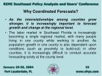 why coordinated forecasts15