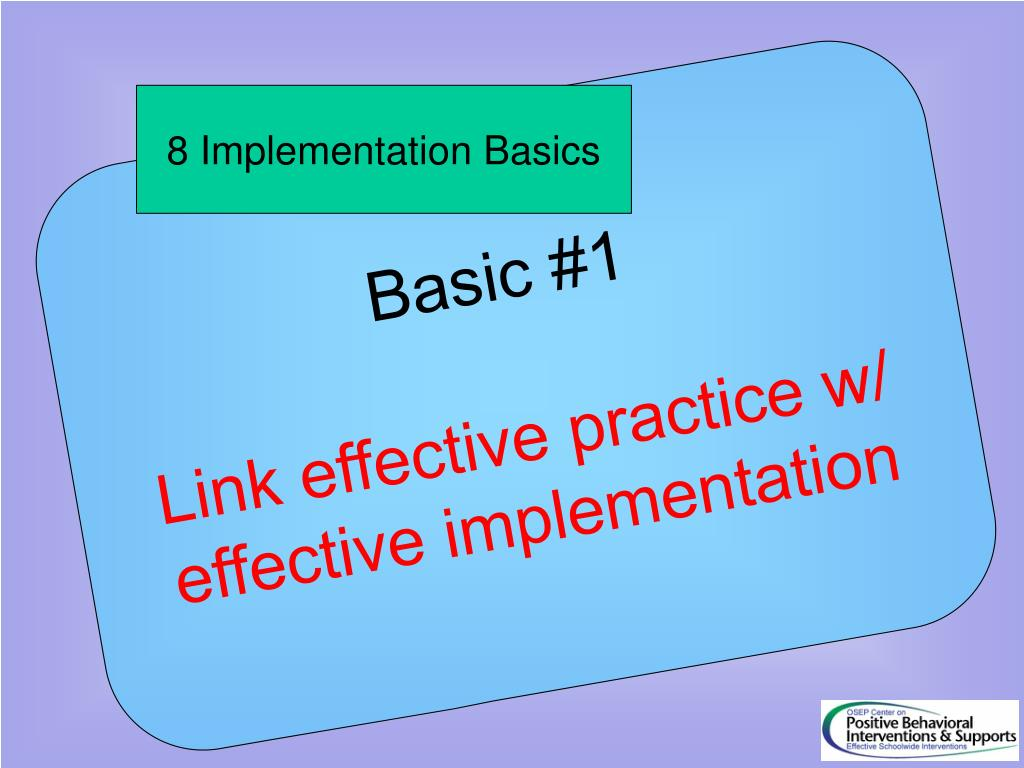 8 Implementation Basics