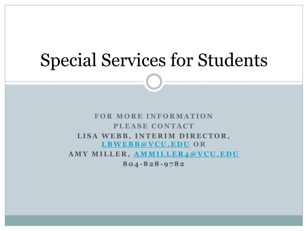 Special Services for Students