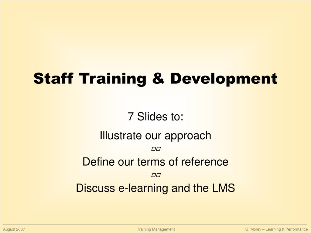 staff training development