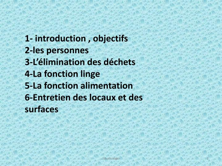 1- introduction , objectifs