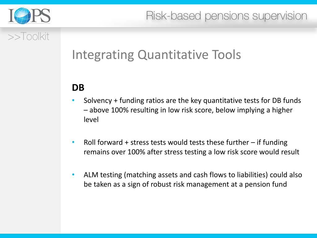 Integrating Quantitative Tools
