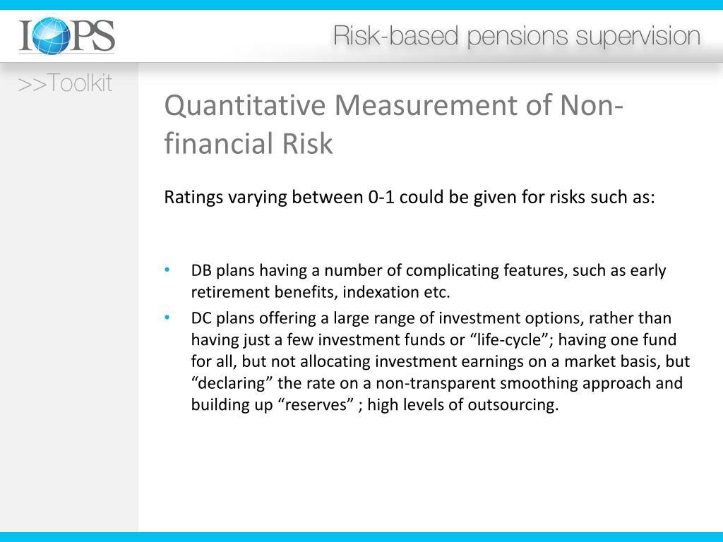 Quantitative Measurement of Non-financial Risk