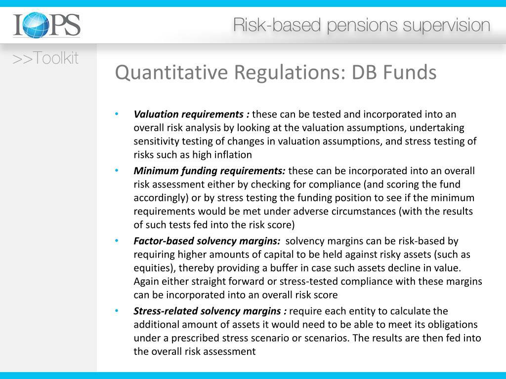 Quantitative Regulations: DB Funds