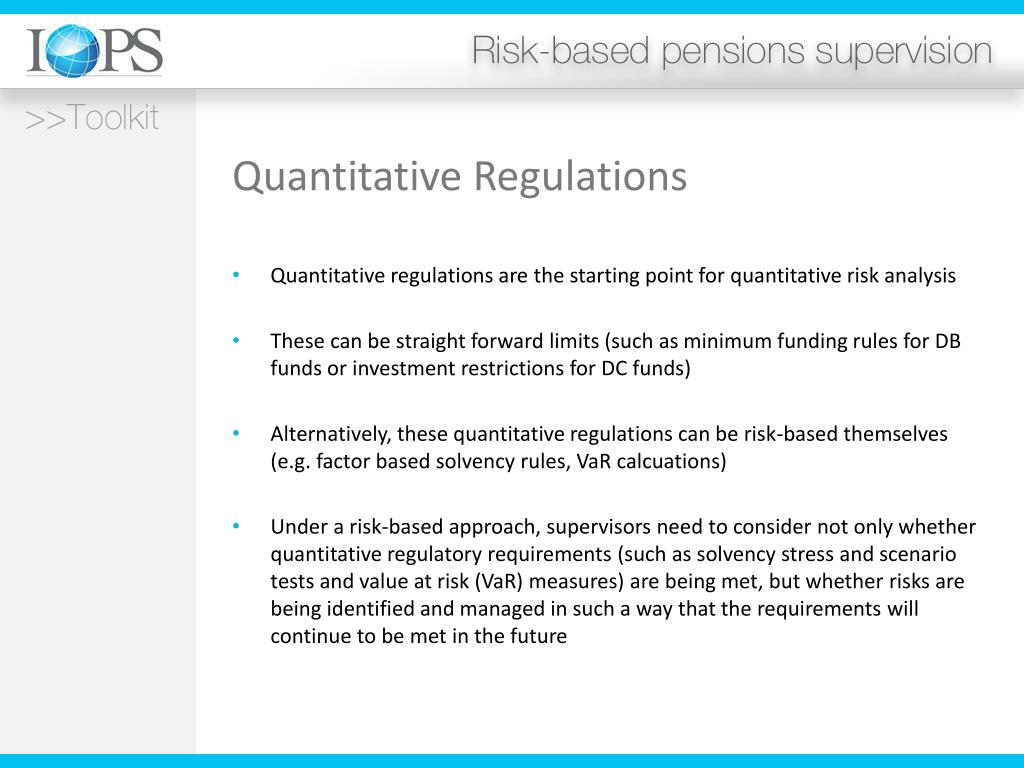 Quantitative Regulations