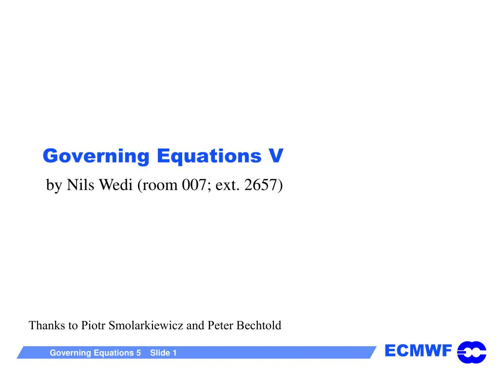 governing equations v