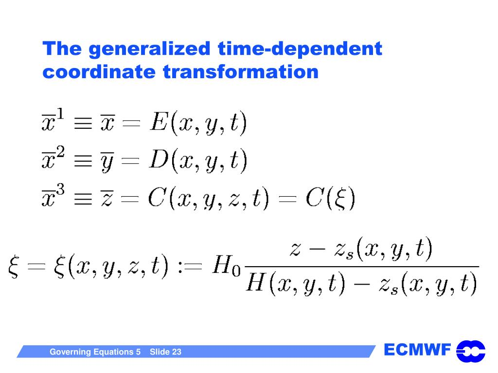 The generalized time-dependent coordinate transformation