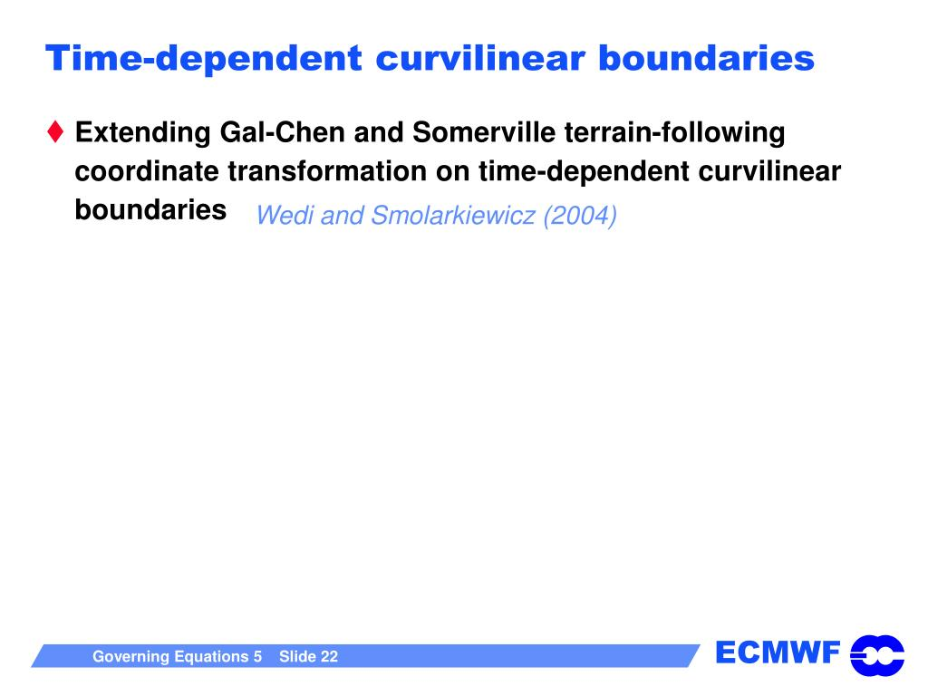 Time-dependent curvilinear boundaries