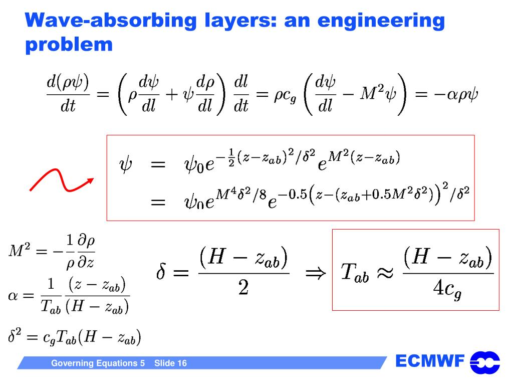 Wave-absorbing layers: an engineering problem