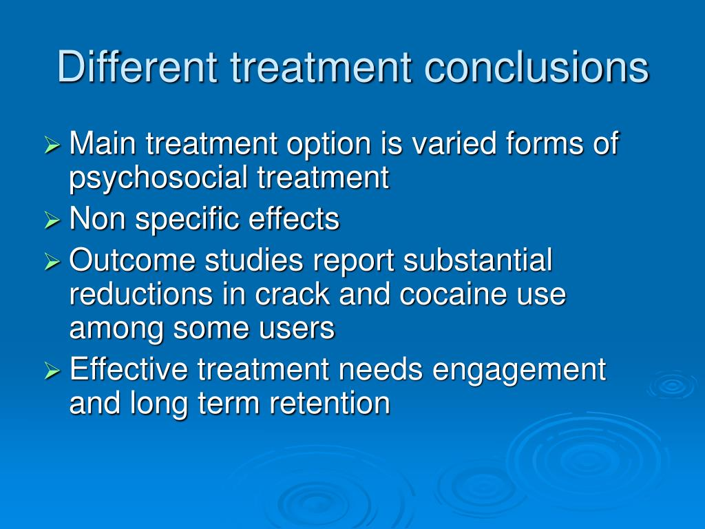 Different treatment conclusions