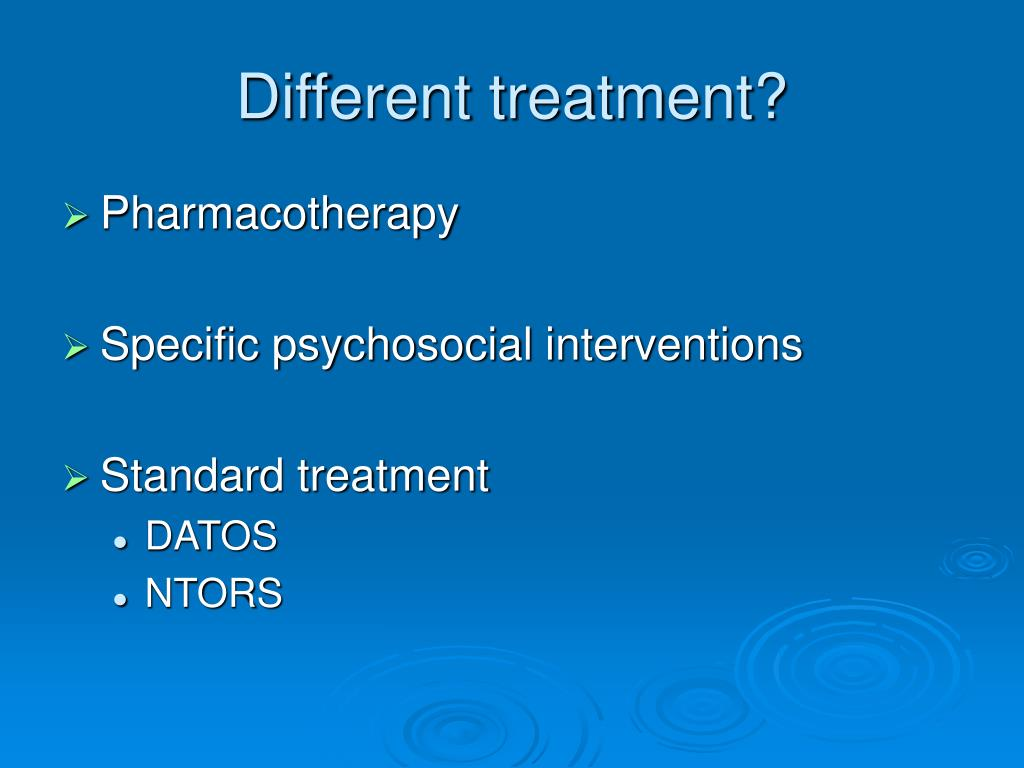Different treatment?