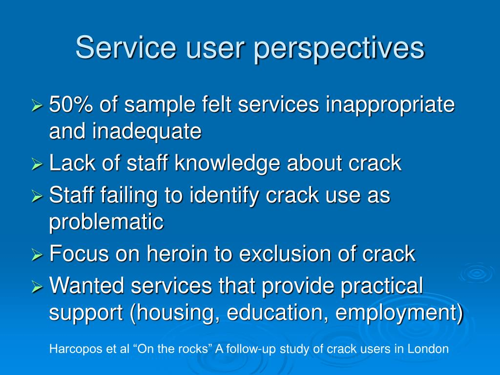 Service user perspectives