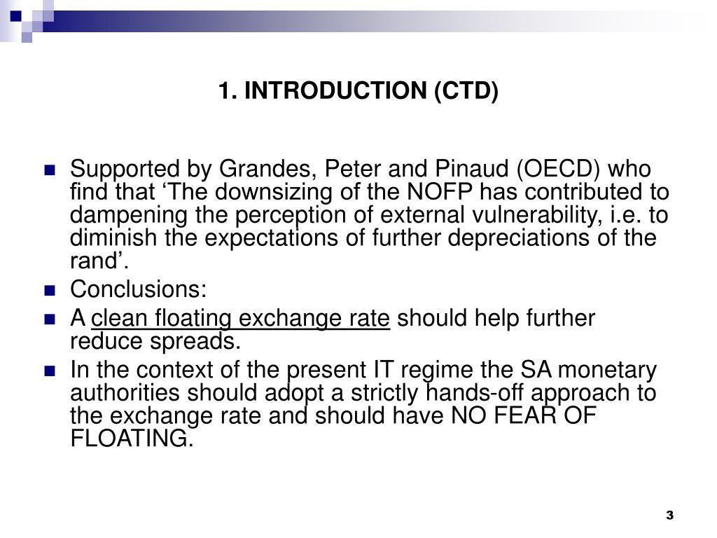 1. INTRODUCTION (CTD)