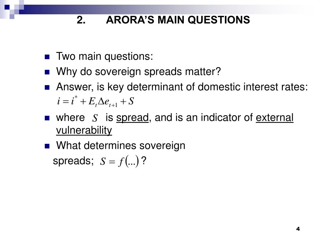ARORA'S MAIN QUESTIONS