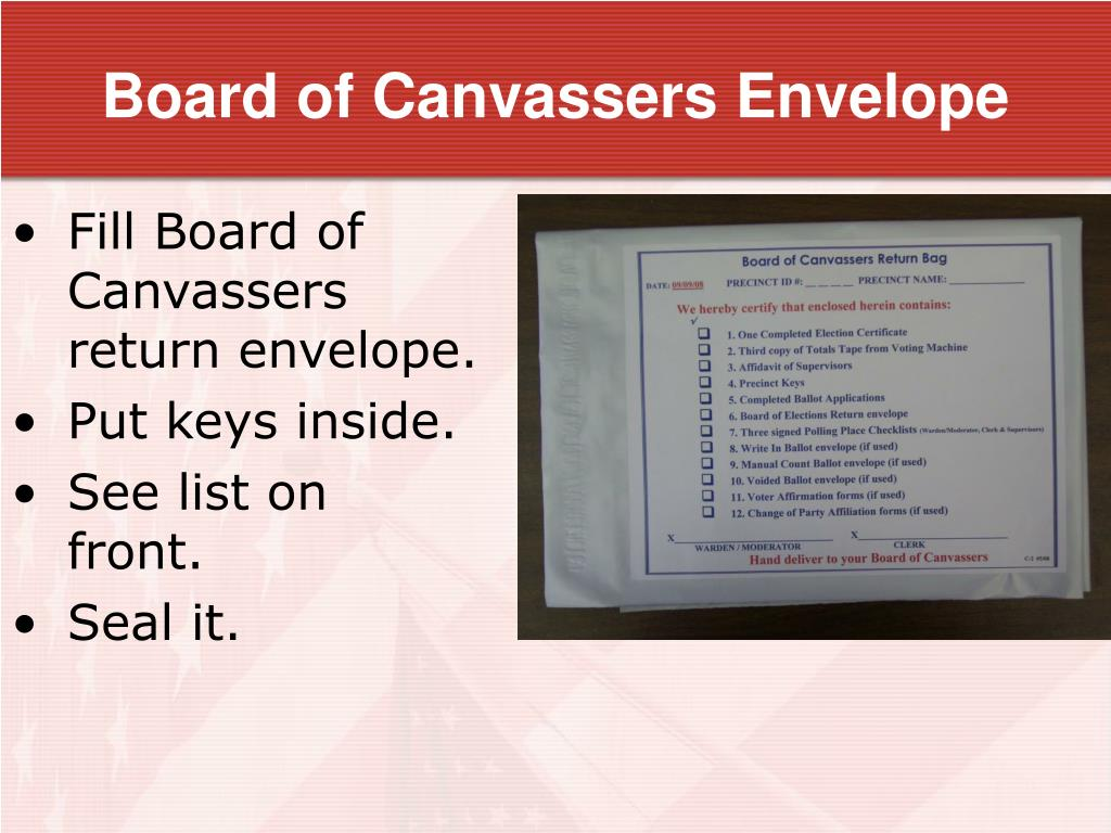 Board of Canvassers Envelope