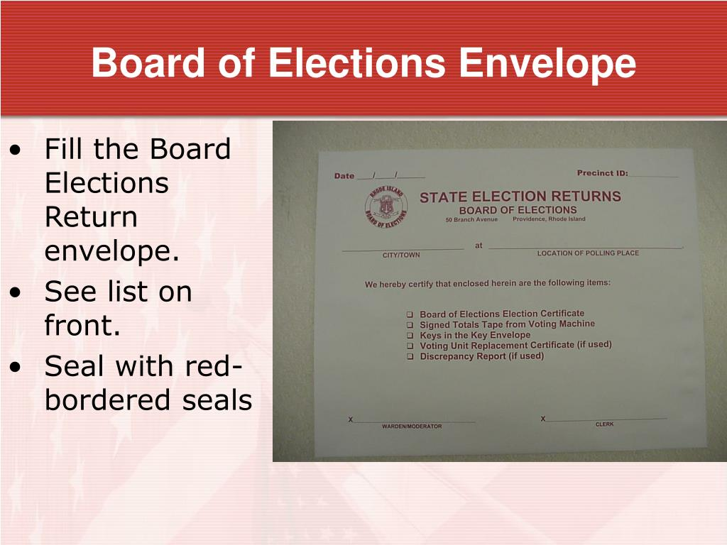 Board of Elections Envelope
