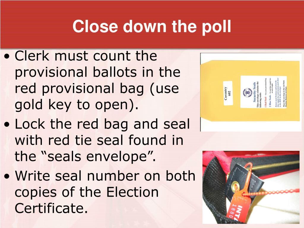 Close down the poll