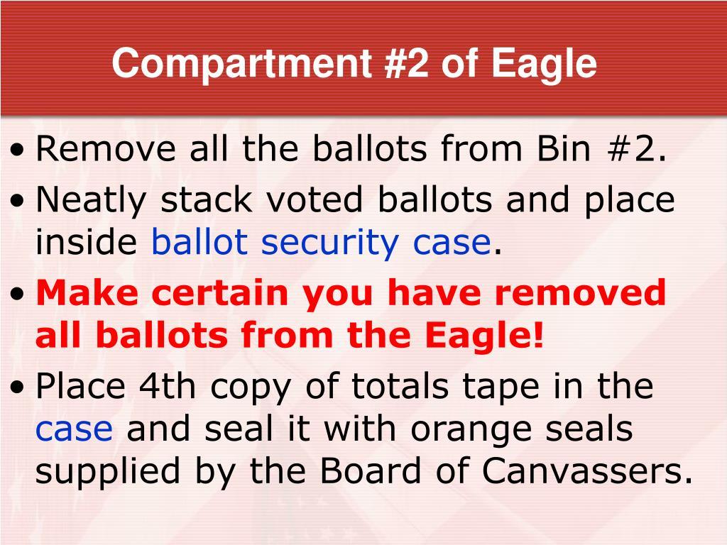 Compartment #2 of Eagle