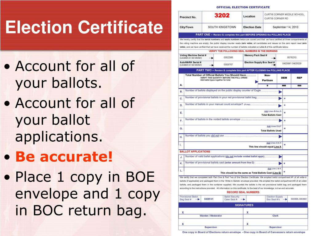 Election Certificate