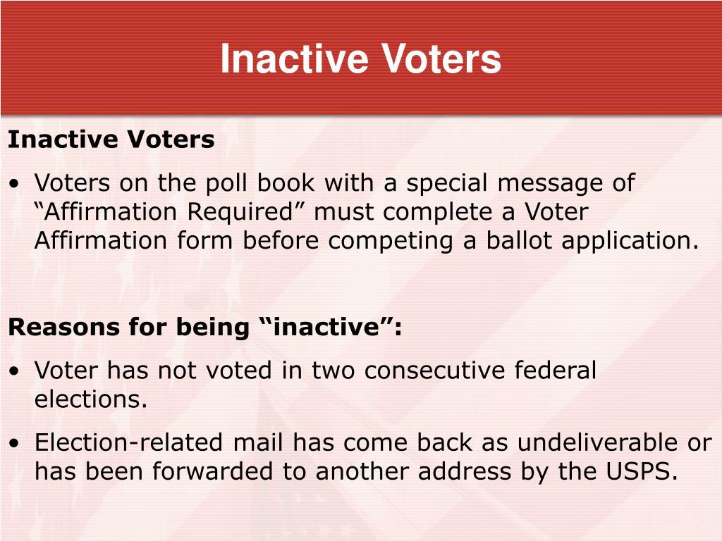 Inactive Voters