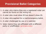 provisional ballot categories